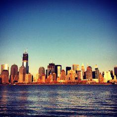 Manhattan in sunset