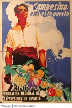 Campesino, este es tu puesto :: Cartells del Pavelló de la República (Universitat de Barcelona)