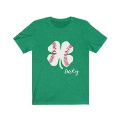 Spread some St. Paddy's Day cheer in this lucky baseball tee. We also think your drinking buddy needs one too.: Light fabric oz/yd² g/m²)) . Baseball Memes, Baseball Shirts, Baseball Players, Baseball Pictures, Drinking Buddies, St Patrick Day Shirts, Mlb Teams, Paddys Day, Los Angeles Dodgers