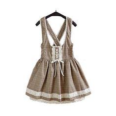 TOMORI Cute Fashion Bow Sailor Collar Lolita Cute Princess Dress ❤ liked on Polyvore featuring dresses, brown dress, sailor collar dress, sailor dress, bow collar dress and collar dress