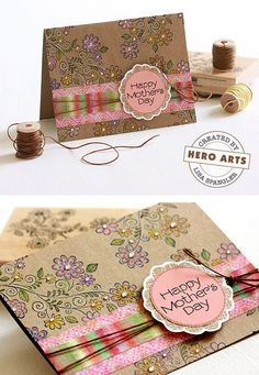 Hero Arts Cardmaking Idea: Happy Mother's Day