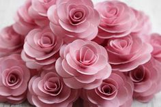 Reduce. Reuse. Recycle. Replenish. Restore.: DIY: How To Make A Rose Using Paper Painted With Powder Pink Latex Paint