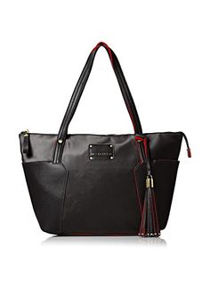 Women's Shoulder Bags - Big Buddha Womens Tessa Nylon Shopper Bag Black -- Find out more about the great product at the image link.