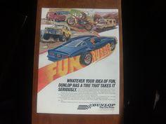 dunlop tire fun rubber vintage magazine ad