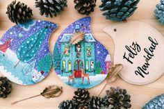 Adornos de navidad, Christmas decorations, Fiestas Decembrinas by iideainmadrid on Etsy