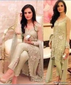 Pakistani Dresses Designs Collection for Girls 2017 New Pakistani Dresses, Eid Dresses, Pakistani Dress Design, Formal Dresses, Dress Designs For Girls, Design Girl, Formal Wear, Dress Collection, Party Wear