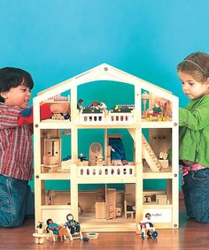 This Home Again, Home Again Mansion Dollhouse is perfect! #zulilyfinds  I am obsessed with doll houses.
