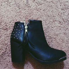Booties Selling for a cheaper price because they have been worn. Fringe embellishment on the right shoe. Shoes Ankle Boots & Booties