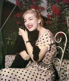 Maria Callas con il suo adorato poodle Tea #VerdiMuseum