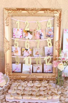 First Year Photo Banner - 1 month to 12 months l Baby's First Birthday Banner l Gold First Year Photo Banner l 12 Month Photo Banner By: mikaspartyshop 1st Birthday Party For Girls, One Year Birthday, First Birthday Banners, Birthday Ideas, Princess First Birthday, First Birthday Theme Girl, First Birthday Decorations, Birthday Photos, Winter Onederland Party Girl 1st Birthdays