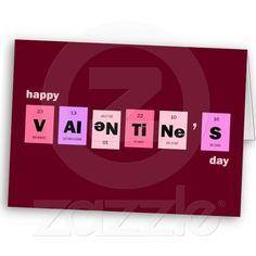 Geek Nerd Science Happy Valentine's Day Greeting Cards