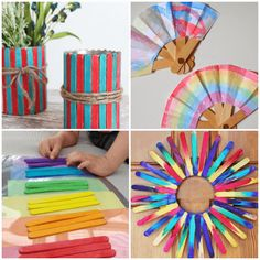 Creative Popsicle Stick Crafts for Kids is part of DIY crafts With Popsicle Sticks - Who doesn't have a ton of Popsicle sticks in their craft bin Check out these fun ways to use them! Craft Stick Projects, Popsicle Stick Crafts For Kids, Craft Stick Crafts, Projects For Kids, Craft Sticks, Art Projects, Diy With Popsicle Sticks, Craft Work, Diy And Crafts Sewing