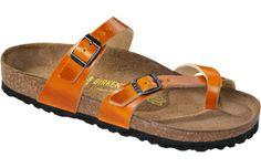 Birkenstock  Orange Peel Shiny Leather  Mayari