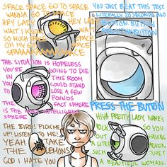 Wheatley Chell cores Glados portal Gotta love cores telling you what to do Best Games, Fun Games, Portal Wheatley, Portal Art, Aperture Science, Bored Games, You Monster, Half Life, Smooth Jazz