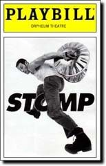Stomp playbill. Saw this off-Broadway.