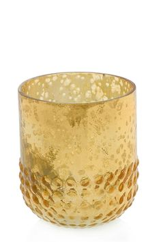 """Medium gold Array votive. Use with tealight.  Measures 2.5"""" x 3"""".  Array Votive Medium by The Birch Tree Furniture. Home & Gifts - Home Decor - Decorative Objects Ohio"""