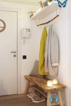 beginbifunow Abrils wooden bench Handmade hanger with Ikea shelf - do it yourself decoration -  Abrils wooden bench Handmade hanger with Ikea shelf  #abrils #hanger #handgefertigter #holzbank #sh - #abrils #bench #decoration #handmade #hanger #HouseDesign #Ikea #ModernHomeDesign #ModernInteriorDesign #shelf #wooden #yourself<br> Banco Ikea, Ikea Regal, Ikea Shelves, Artisanal, Entryway Decor, Entryway Bench, Home Furnishings, Home Furniture, Wooden Furniture