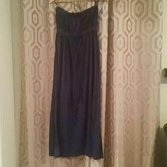 Long strapless navy dress Nice strapless navy blue maxi dress. It's a XL but fits like a L Dresses Maxi