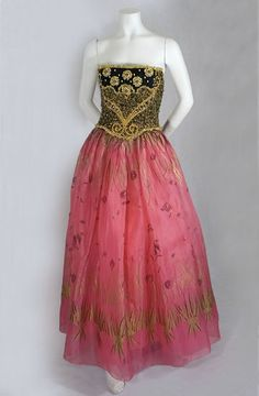 Zandra Rhodes evening dress, 1980s, from the Vintage Textile archives.