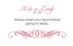 To be a lady <3