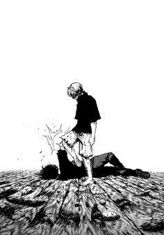 Kaneki breaks Ayato's bones.
