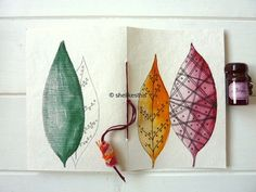 abstract leaves bright and colourful for this by shelikesthis
