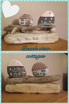 More of my drift wood and pebble art!