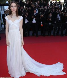 Star of the show:Wanting to make a fashionably late arrival as the film's leading lady, model and actress Lily Collins hit the carpet next