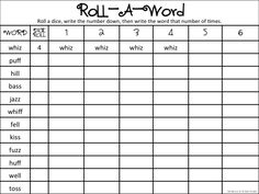 Four free worksheets for word work. Two are pre-created & two are ...