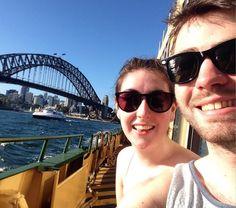 Obligatory bridge selfie #nofilter #nofilterneeded #sydney #sydneyharbourbridge #travelling #straya #australia #selfie #withbae #boat #ocean #sea by stapleslauren http://ift.tt/1NRMbNv