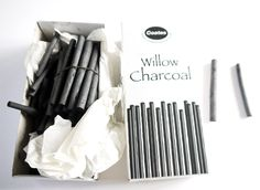 Drawing materials  Charcoal, pencils, erasers, pens, pastels, quills and ink