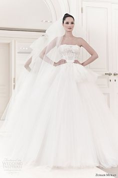 zuhair murad bridal spring summer 2014 ilona strapless tulle wedding dress