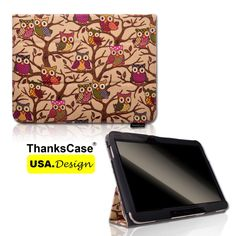 """Canvas+Case+for+Samsung+Galaxy+Tab+4+7""""+8""""+10.1""""+Tablet+Cute+Owl+Smart+Cover++#Samsung"""