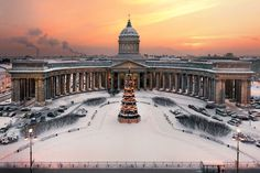 Kazan Cathedral or Kazanskiy Kafedralniy Sobor, also known as the Cathedral of Our Lady of Kazan, is a cathedral of the Russian Orthodox Church on the Nevsky Prospekt in St. Petersburg. It is dedicated to Our Lady of Kazan, probably the most venerated icon in Russia.