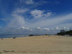 La plage d'Arcachon en  France