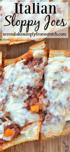 Italian Sloppy Joes an easy weeknight meal and family favorite!
