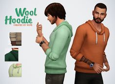lilsimsie faves  — simsontherope:   Wool Hoodie for the Sims 4  I...