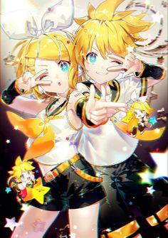 Rin and Len Rin E Len, Kagamine Rin And Len, Vocaloid Len, Anime Couples Manga, Cute Anime Couples, Anime Girls, Chibi, Vocaloid Funny, Vocaloid Characters