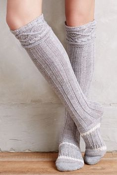 Cabled Over-the-Knee Boot Socks - anthropologie.com 9.95