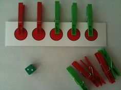 Clipping Number Combinations up to 5. Fun hands on activity