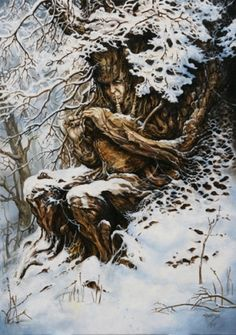 Hiver by Severine Pineaux. Oil on canvas