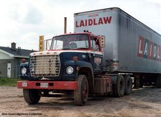 Laidaw Ford taken in Windsor, Ontario in Big Ford Trucks, Big Rig Trucks, Semi Trucks, Cool Trucks, Vintage Trucks, Vintage Auto, Truck Transport, Diesel Cars, Heavy Truck