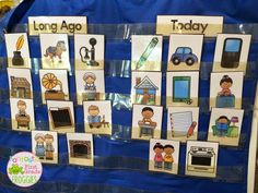 Comparing life long ago and today.  There is an interactive notebook freebie included.