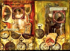 Altered book spread by Lou McCulloch