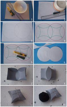 Circles into packaging box DIY