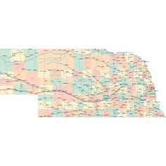 Scalable online Nebraska road map and regional printable road maps of Nebraska. Highway Map, Road Maps, Nebraska State, Printable Maps, Colorado Homes, State Map, Travel With Kids, Diagram, Scrapbooking Ideas