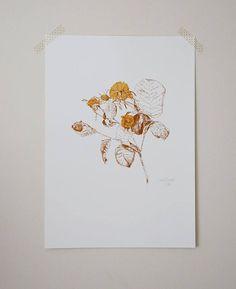 silkscreen print by Gabi Bano