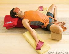 Recharge in Reclining Bound Angle Pose (Supta Baddha Konasana)