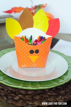 Thanksgiving Crafts for Kids:: DIY Turkey Boxes by Love The Day