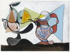 Nature morte aux poires et au pichet (Still Life with Pears and Pitcher), 1960 Pablo Picasso Pablo Picasso, Kunst Picasso, Art Picasso, Picasso Paintings, Oil Paintings, Christopher Clark, Trinidad, Picasso Still Life, Picasso Images